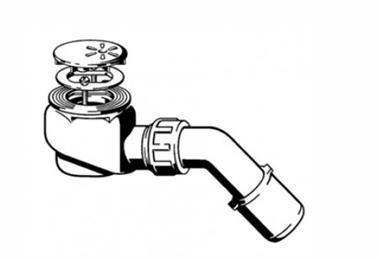 Схема соединения сифона и душевого поддона