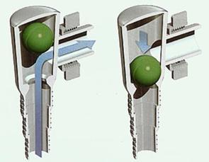 Как работает обратный клапан, встроенный в сифон