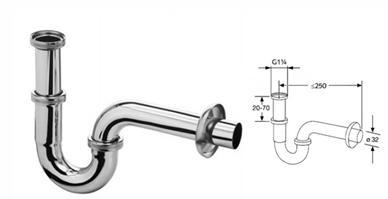 Наиболее частый диаметр шланга сифона 32 мм
