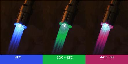 Устройство, меняющее цвет воды в зависимости от ее температуры