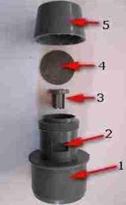 Основные элементы, входящие в устройство аэратора