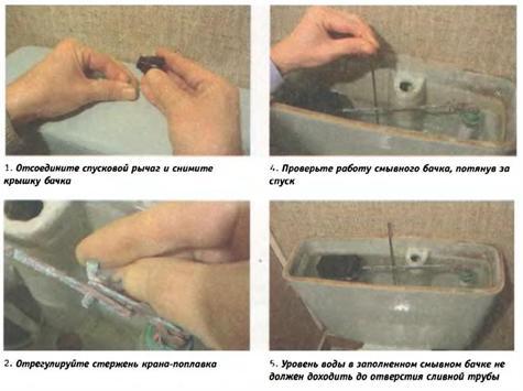 Схема регулировки наливной арматуры