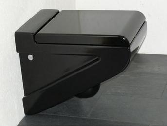 Сантехника, изготовленная из черного фарфора