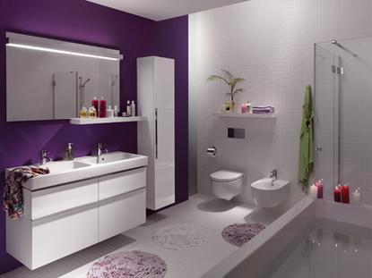 Дизайнерское решение ванной комнаты с подвесным унитазом