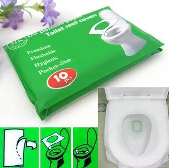Бумажная накладка на унитаз для гигиенического использования