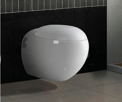 Унитаз, изготовленный в форме шара