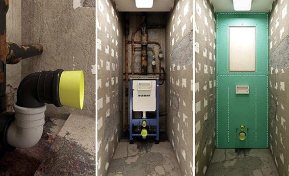 Монтаж инсталляции, подведение коммуникаций и обшивка стены