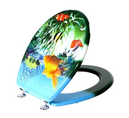 Крышка-сиденье для туалета с рисунком