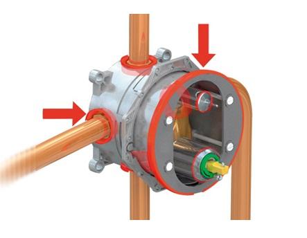 Установка и подключение встроенного смесителя