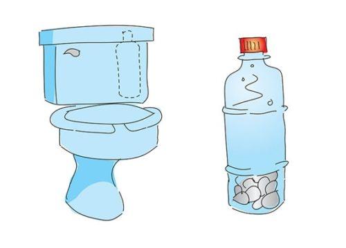 Использование пластиковой бутылки для профилактики известкового налета