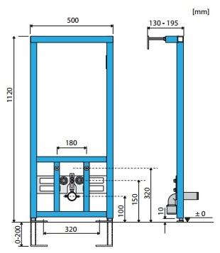 Схема монтажа инсталляции Roca для биде