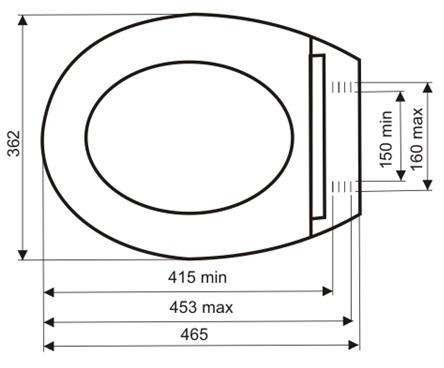 Шаблон для подбора электронной крышки-биде