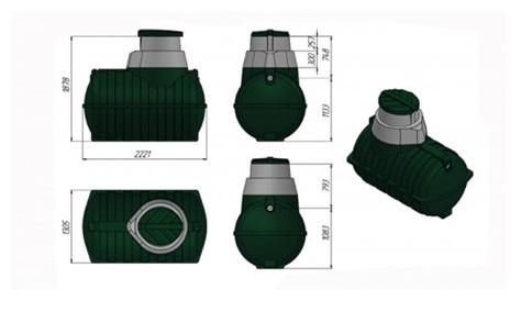 Размеры очистного сооружения загородный