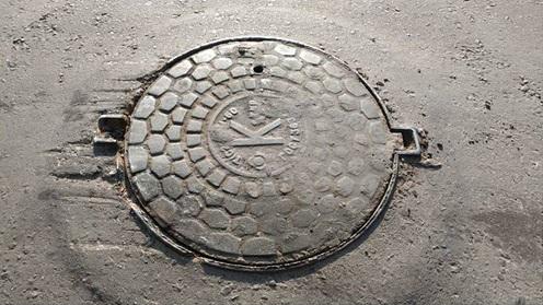 Предупреждение о расположении канализационной системы