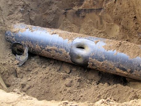 Разгерметизация трубопровода после проведения земельных работ