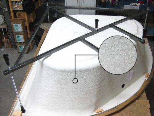 Структура материала, примененного для армирующего слоя