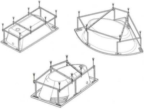 Поддерживающие устройства для ванн разной формы