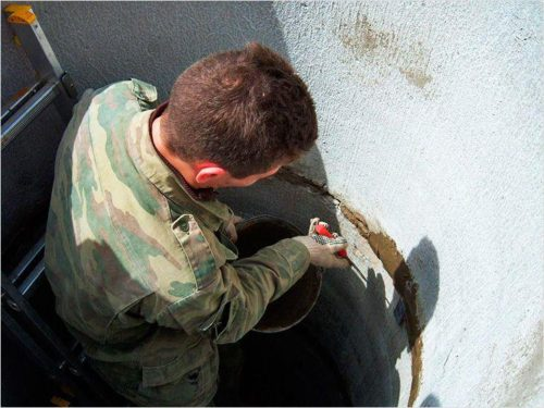 Устранение протечки бетонного септика