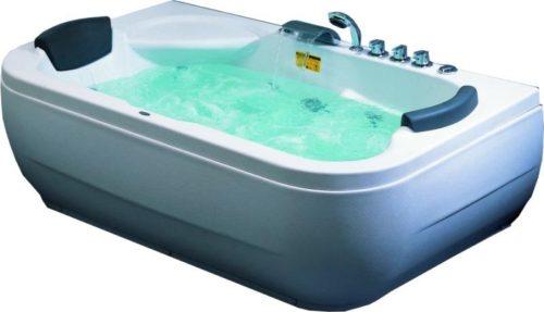 Акриловая ванна с дополнительными опциями