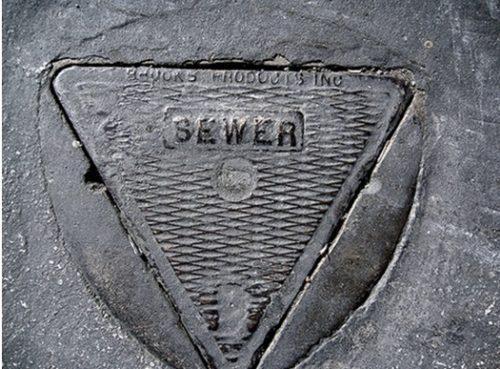 Крышка для септика в форме треугольника