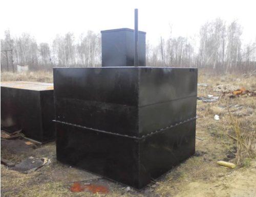 Очистное сооружение, изготовленное из металла