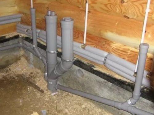 Разводка канализационной сети внутри дома