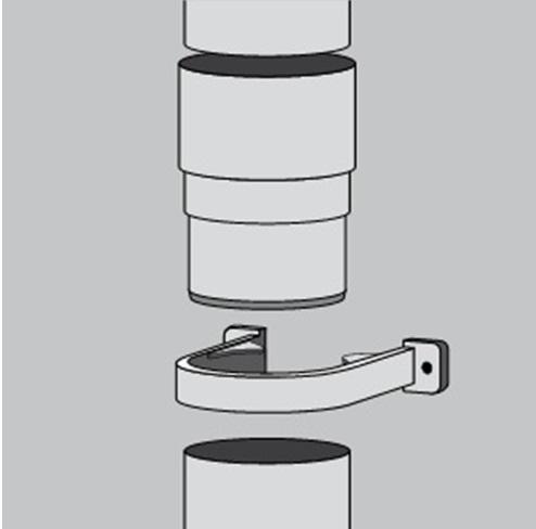 Сборка и крепление водоотводных труб