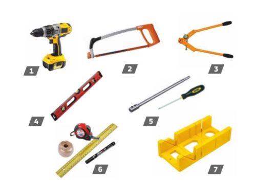 Перечень инструментов, необходимых для установки водосточной системы