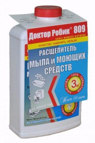 Специальный состав для удаления мыльного налета
