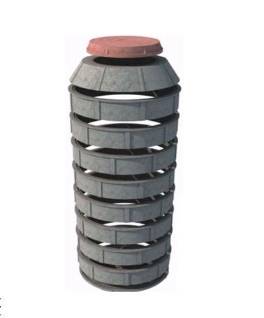 Колодец из отдельных полимерпесчаных колец