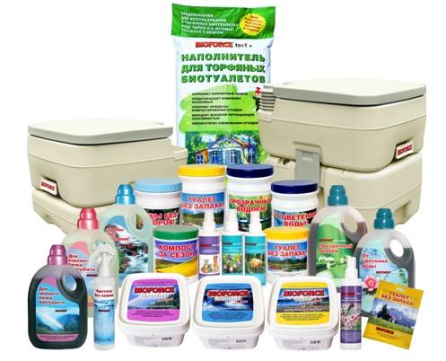 Средства для чистки и обслуживания септиков и туалетов