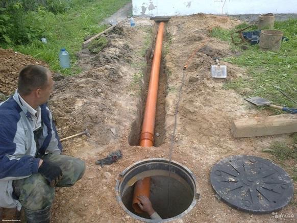 Ввод канализационных труб