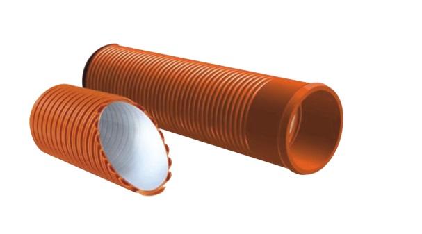 Гофрированные трубы, состоящие из двух слоев материала