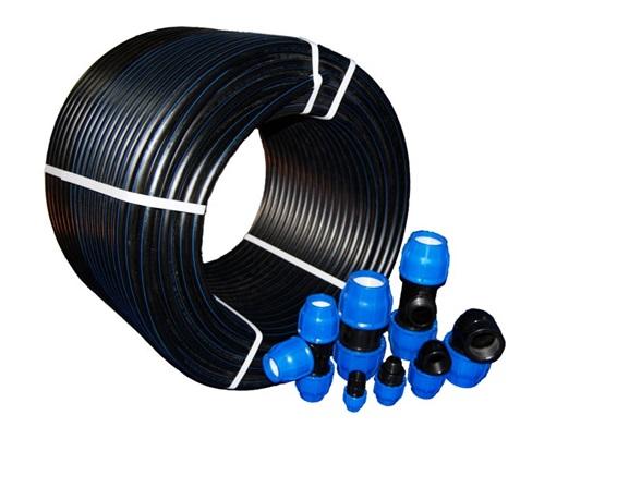 ПНД трубы и соединительные фитинги для сооружения трубопровода