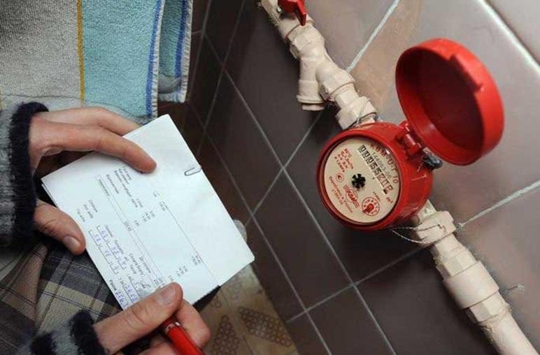 Процесс записи данных с водомера