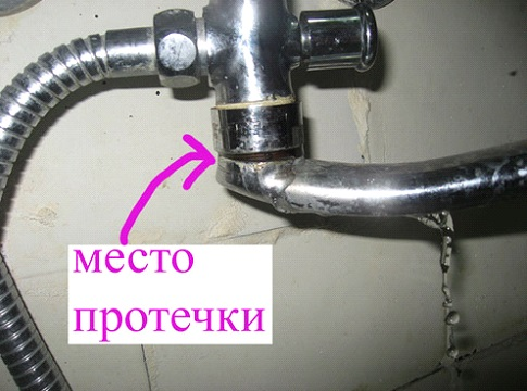 Протечка вследствие износа уплотнительного кольца