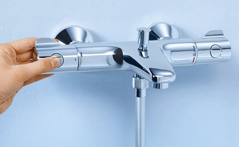 Конструкция термостата позволяет регулировать температур воды заранее