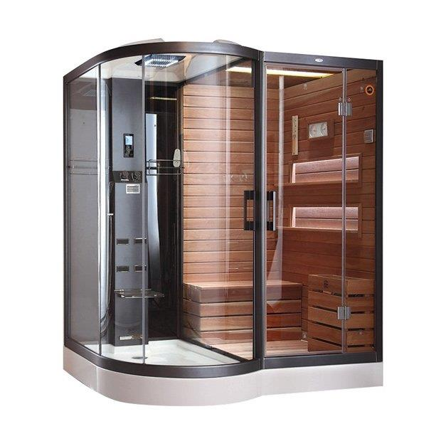 Комбинированная душевая кабинка с сауной