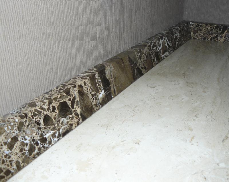 Плинтус для ванны из натурального мрамора
