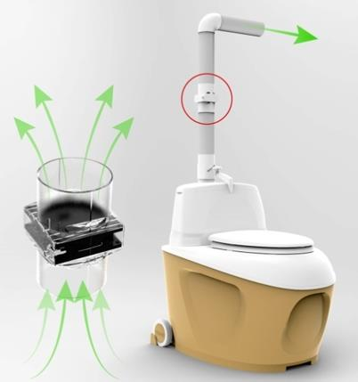 Биотуалет с улучшенной системой вентиляции от компании Питеко