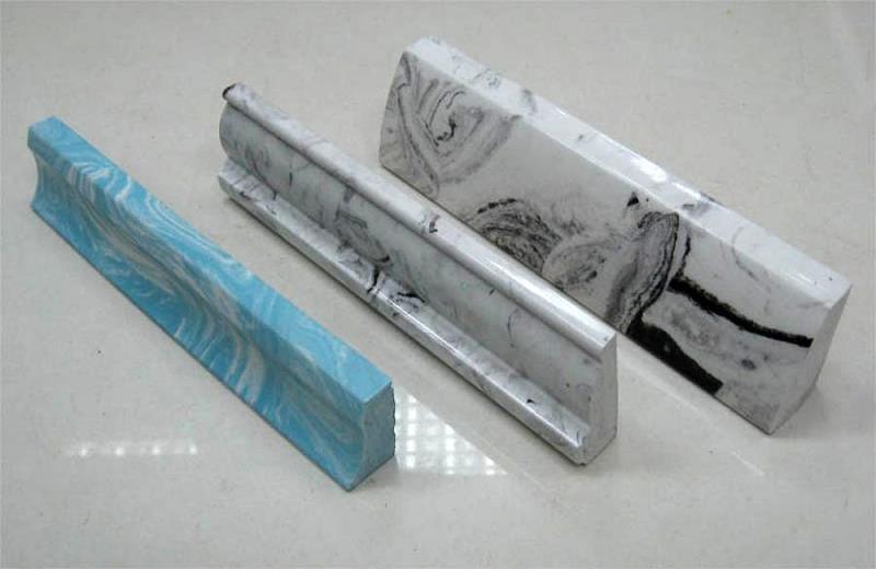 Мраморные бордюры для ванны