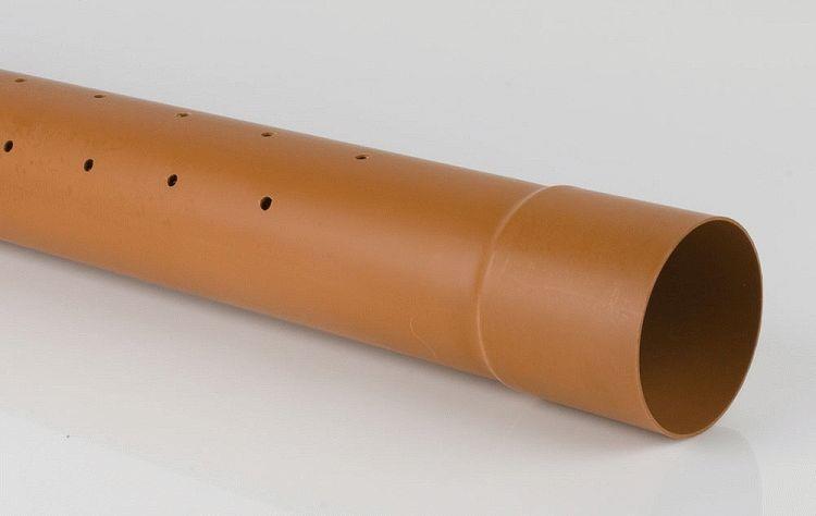 Перфорированный гладкостенный тип (пластик)