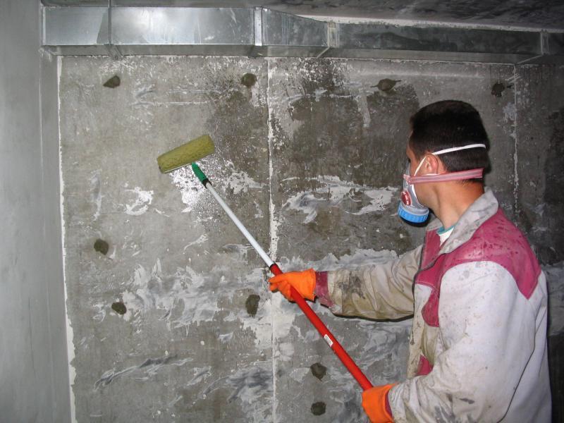 Обработка стен проникающей изоляцией