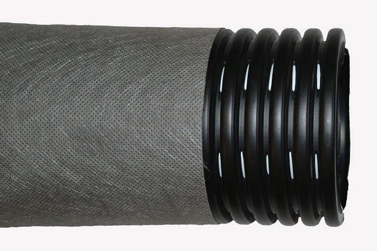 Дренажная труба с фильтром из геоткани