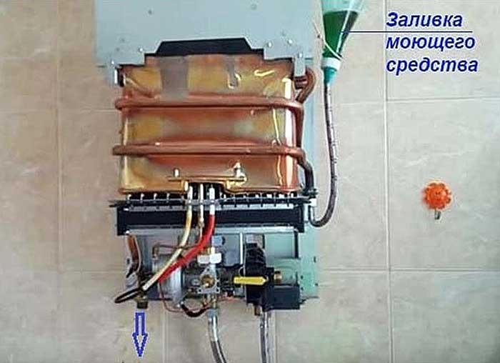 Очистка от накипи теплообменника газовой колонки