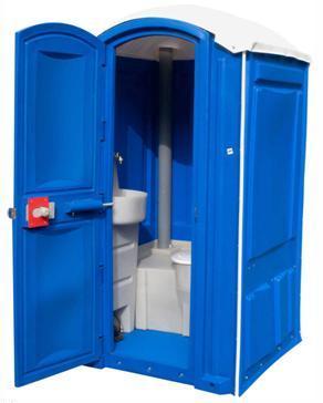 Готовая конструкция туалетного домика