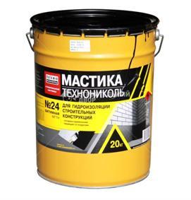 В качестве гидроизолятора используют битумную мастику