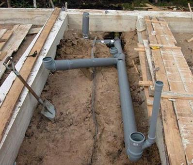 Канализационная система для загородной бани