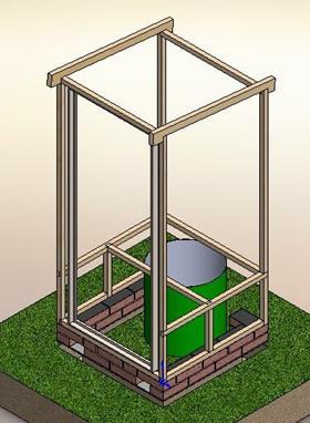 Основа помещения для туалета