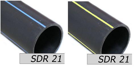 Назначение трубы можно определить по цвету полос: синие или голубые для воды, желтые – для газа